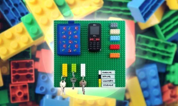 Organizando suas chaves e pertences com peças LEGO