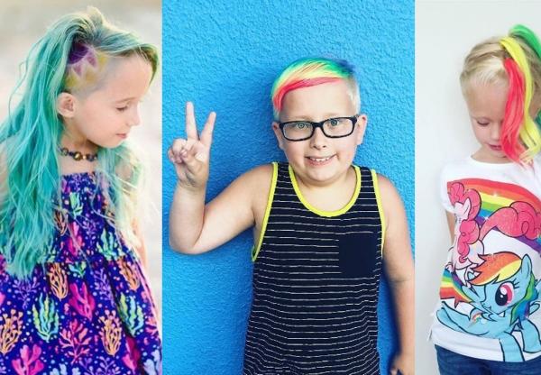 Criança pode colorir o cabelo? Tudo sobre unicornização infantil